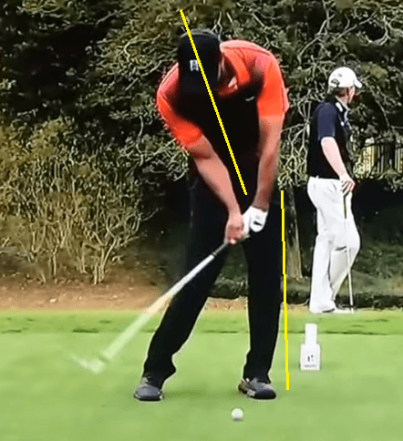 tiger woods spine angle in downswing