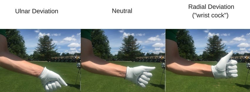 ulnar neutral and radial wrist deviations